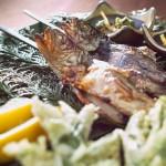 冬料理_岩魚塩焼き