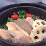 冬料理_茜鱒と旬菜の蒸鍋